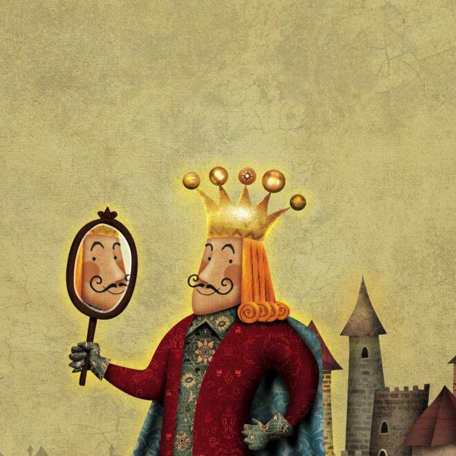 """Ilustração para o livro """"A Roupa Nova do Rei"""""""