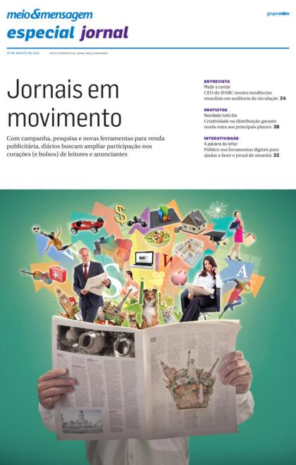 Capa para o periódico Meio e Mensagem