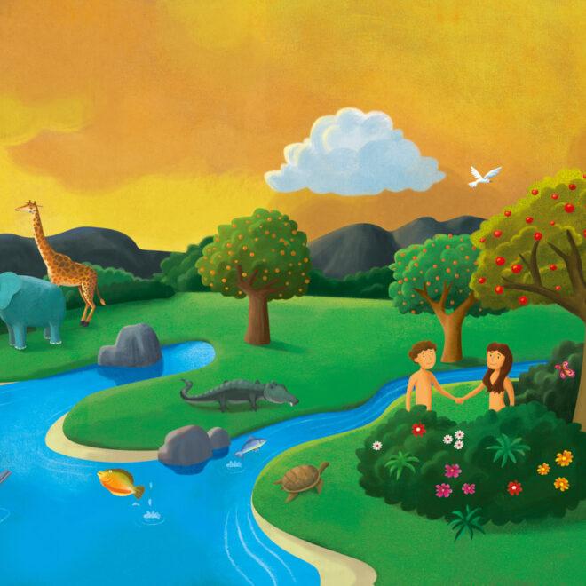 Ilustração para a coleção Alegria e Fé, da Editora FTD