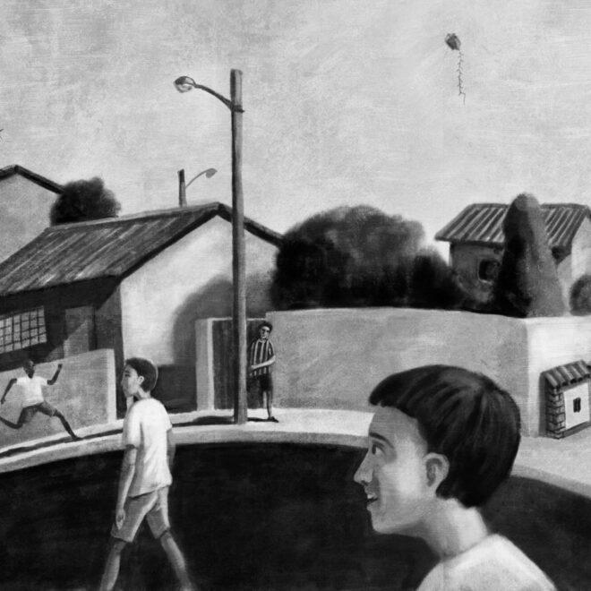 Ilustração para o livro Ilhados, Tratado sobre Guris. Editora Saraiva