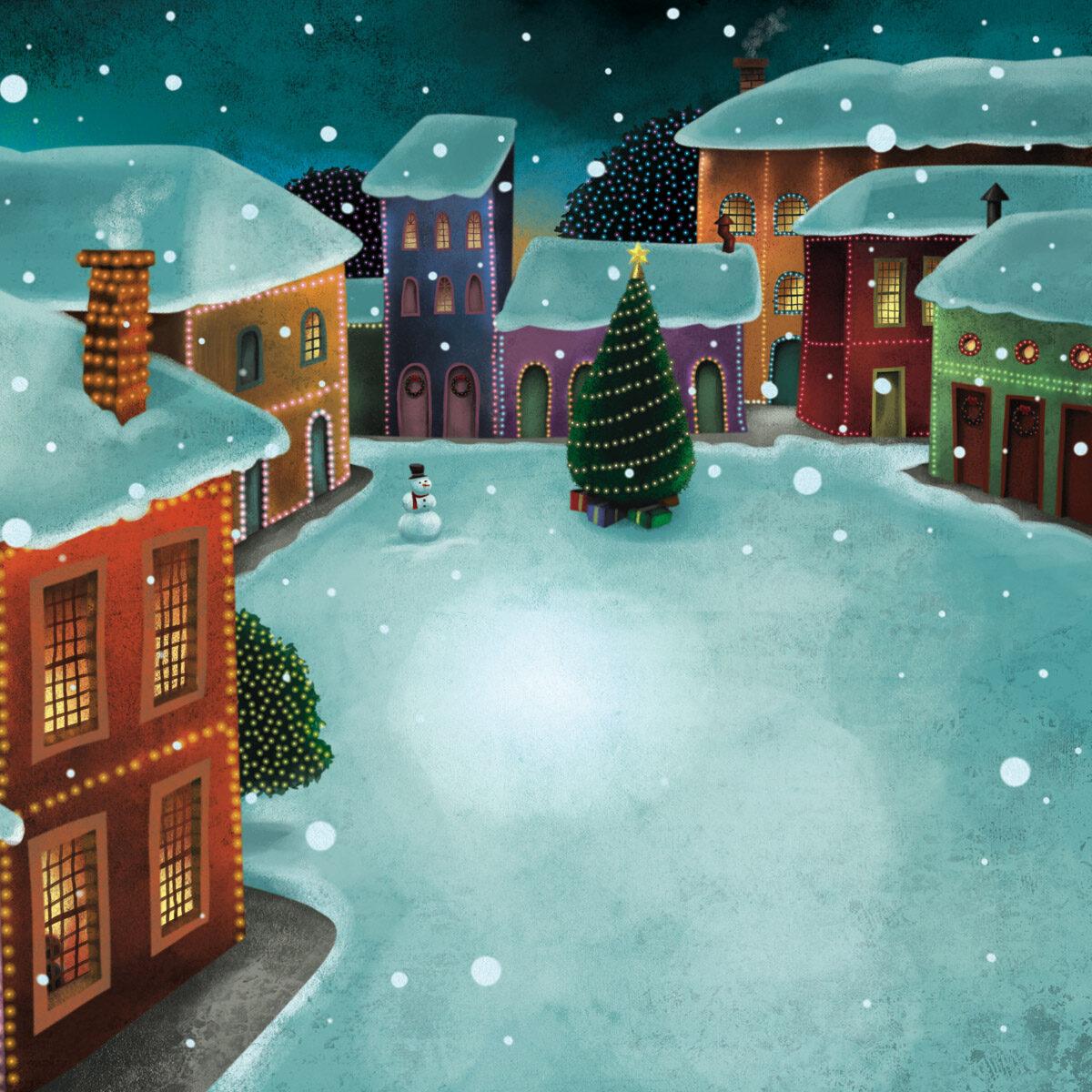 Ilustração para o livro Véspera de Natal, de Tatiana Belinky. Editora Saraiva