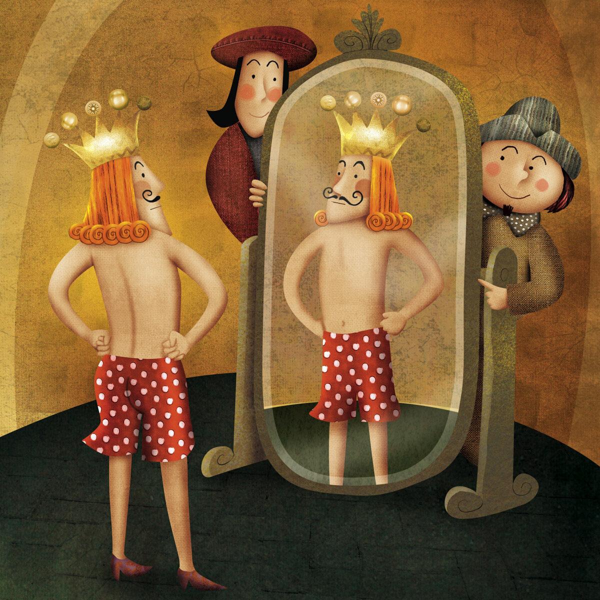 Ilustração para o livro A Roupa Nova do Rei