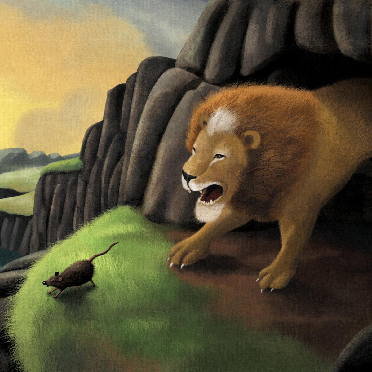 """Ilustração para o livro \""""O Urso, a Gansa e o Leão\"""", de Ana Maria Machado, pela editora FTD"""