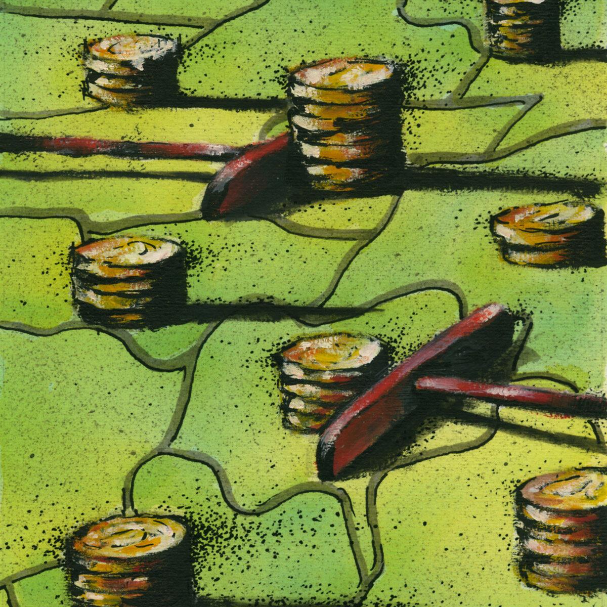 Ilustração para revista da Bolsa de Valores de São Paulo - Bovespa