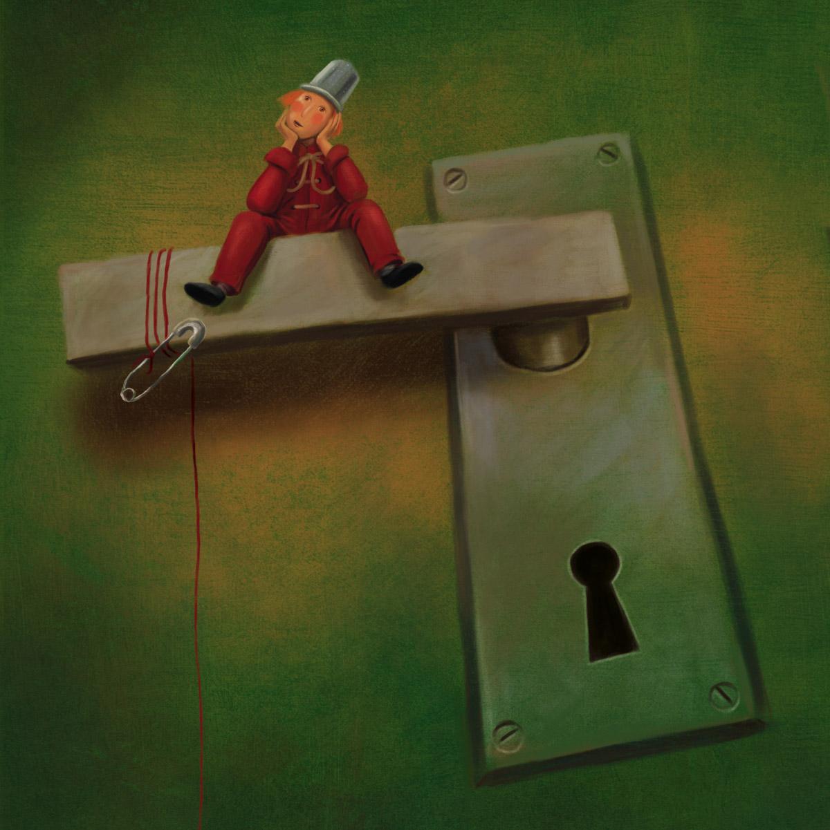Ilustração para o livro O Pqueno Polegar